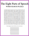 Eight Parts of Speech Word Search Puzzle