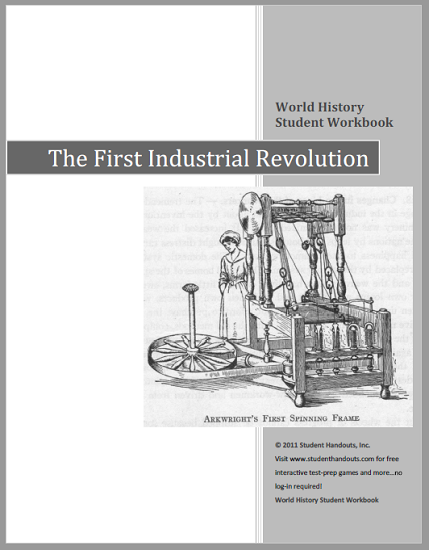 First Industrial Revolution - History Workbook for High School World History Students - Free to Print (PDF File)