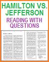 Hamilton vs. Jefferson Reading witrh Questions