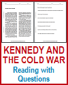 Kennedy and the Cold War Reading with Questions