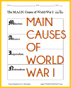 M.A.I.N. Causes of World War I Worksheet