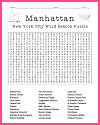 Manhattan Word Search Puzzle