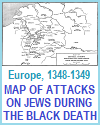 Map of Attacks Against Jews During the Bubonic Plague