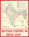 Map of the British Raj in India, 1785-1900