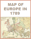 Political Map of Europe in 1789