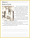 Medieval Castle Coloring and Writing Sheet