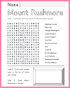 Mount Rushmore Worksheets and Pictures