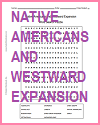 Native Americans and Westward Expansion Word Search Puzzle