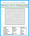 Peace with Problems Word Search Puzzle