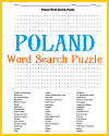 Poland Word Search Puzzle