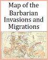 Roman Empire Map of 376 C.E. with Barbarian Migrations