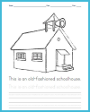 Old-Fashioned Schoolhouse Coloring Page