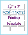 "1.5"" x 2"" Post-It Notes Printing Template"