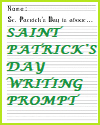 St. Patrick's Day Writing Prompt; Grades 1-3