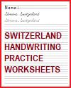 Switzerland Handwriting Practice Worksheets