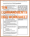 Ten Commandments DBQ Worksheet