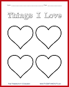 Things I Love Worksheet