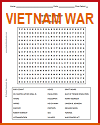 Limits of Power: Vietnam War Word Search Puzzle
