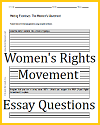 Women's Rights Movement Writing Exercises