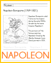 Napoleon Bonaparte Coloring Sheet for Kids