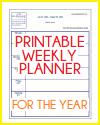 Weekly Academic Planner