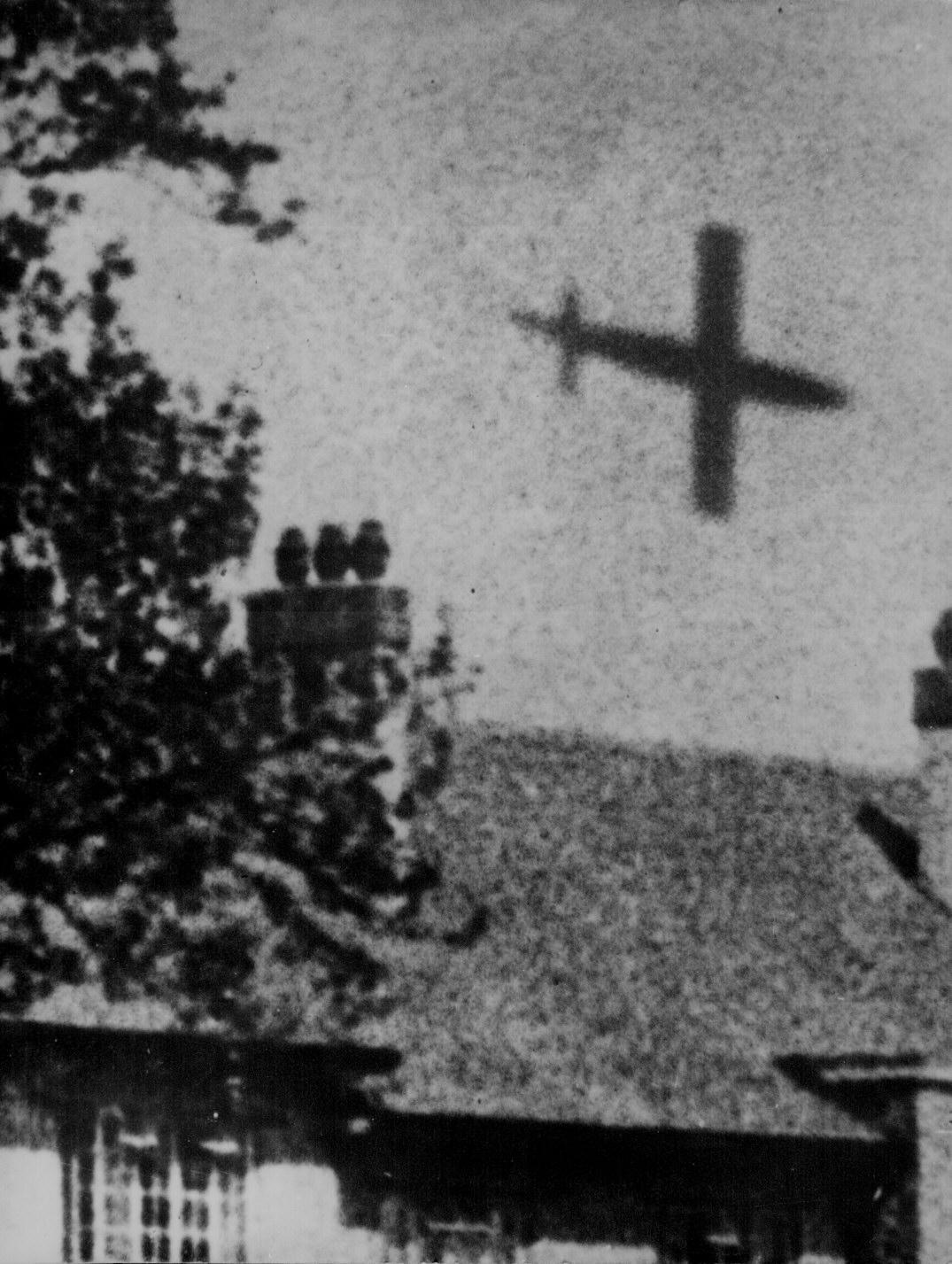V-1 Rocket in Flight over London