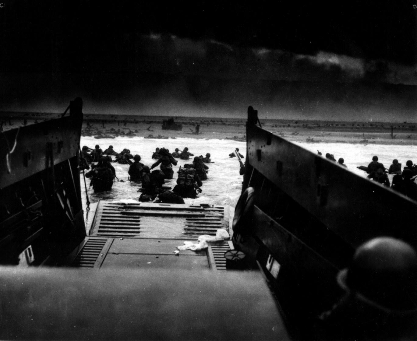 U.S. Soldiers Landing in France on D-Day