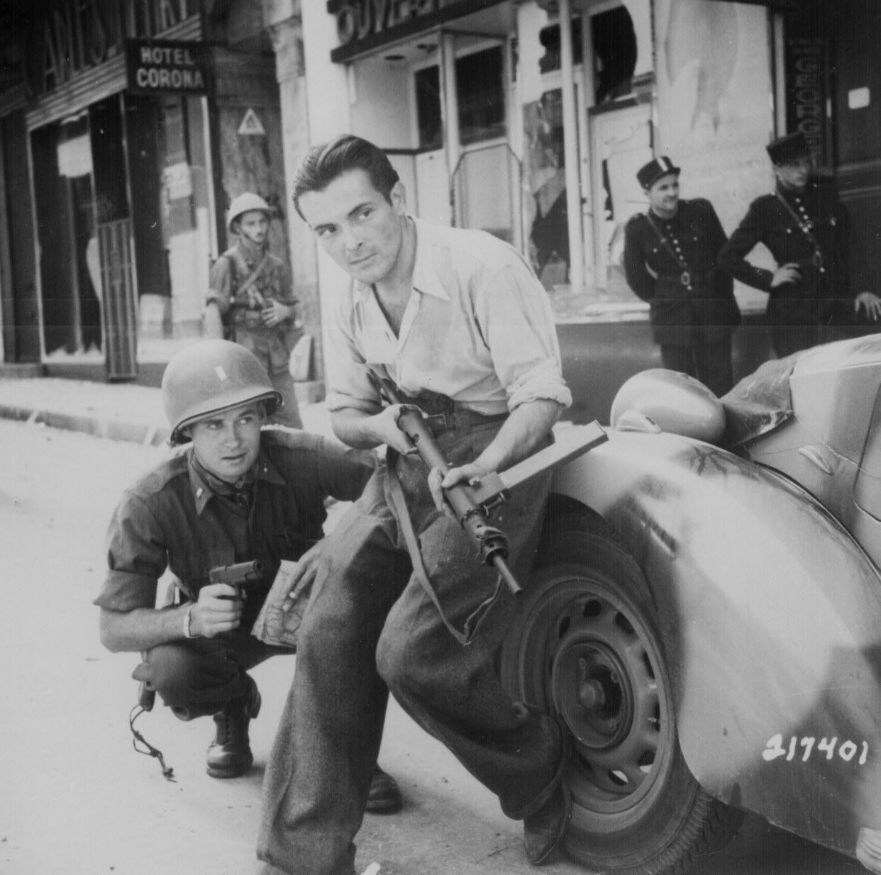 A French Partisan and an American Soldier (World War II)