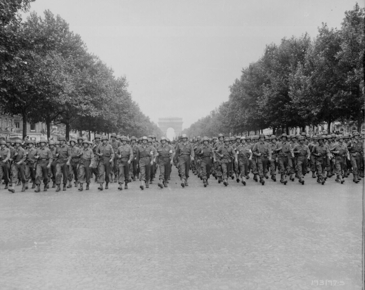 Victory Parade in Paris, France