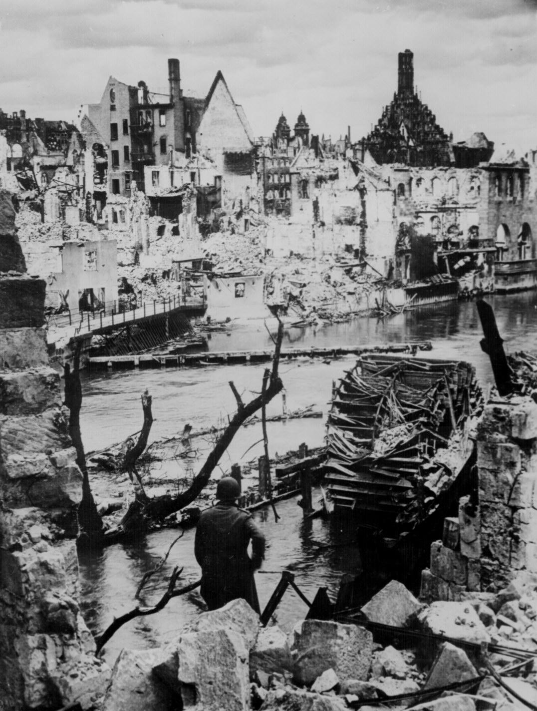 Liberated Nuremberg, Germany, in 1945