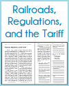 Railroads, Regulations, and the Tariff Reading with Questions
