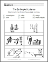 Six Simple Machines Identification Worksheet