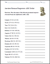ABC Order: Ancient Roman Emperors