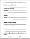 Country Research Project Fact Sheet