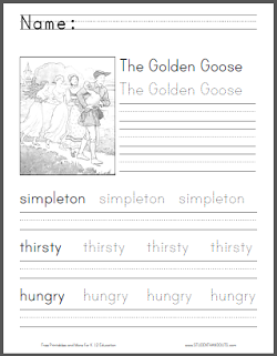 The Golden Goose eBook and Workbook - Free to print (PDF files).