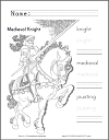 Medieval Knight Coloring and Writing Sheet