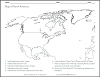 Blank Outline North America Map Worksheet
