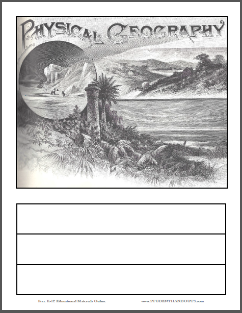 Physical Geography Binder Cover - Free to print (PDF file).