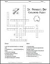 Saint Patrick's Day Crossword; Grades 4-12