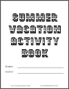 Summer Vacation Activity DIY Workbook Cover