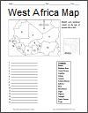 West Africa Map Worksheet