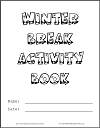 Cover for DIY Winter Break Activity Book