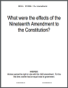 Nineteenth Amendment Bell Work