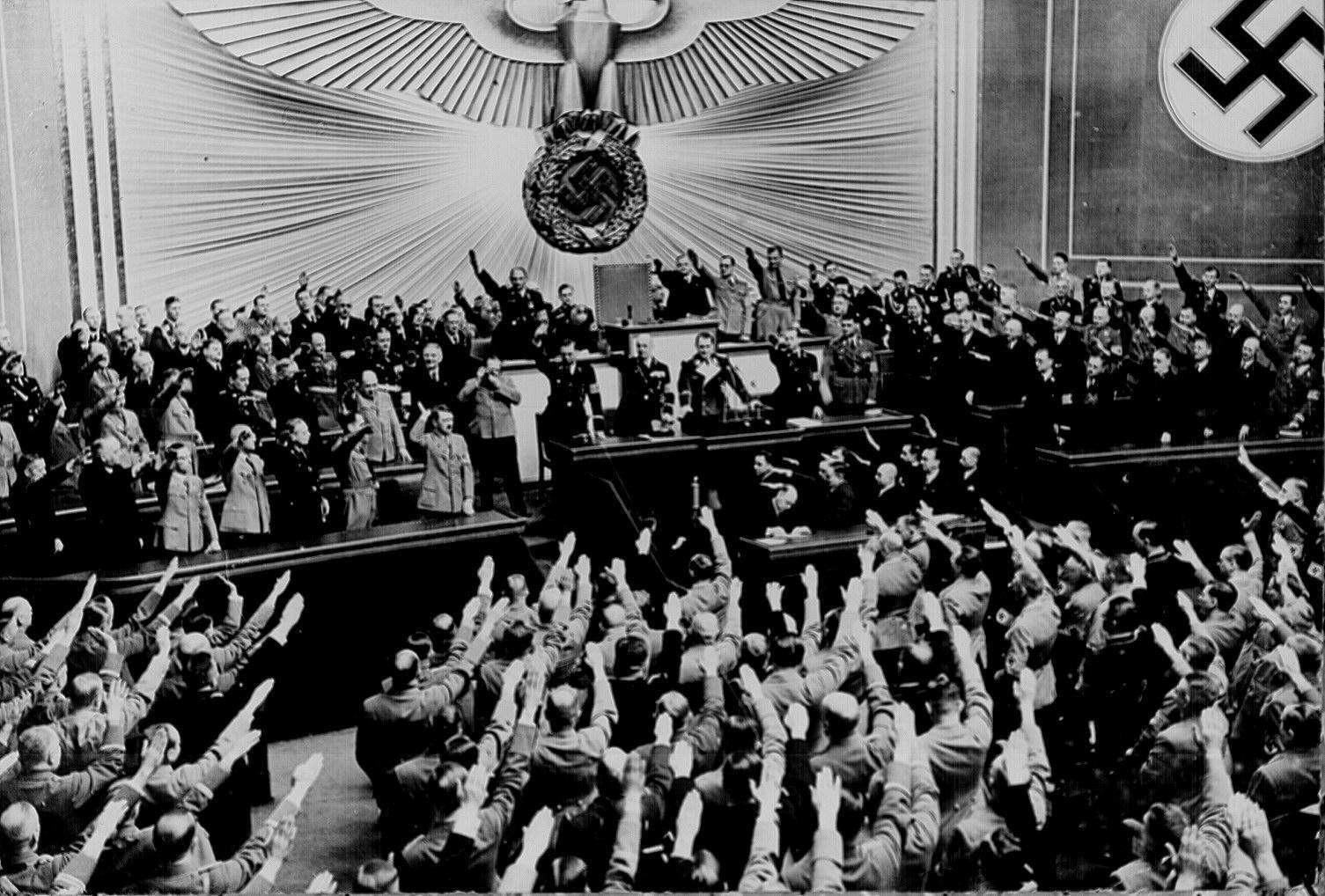 Adolf Hitler in the Reichstag, 1938