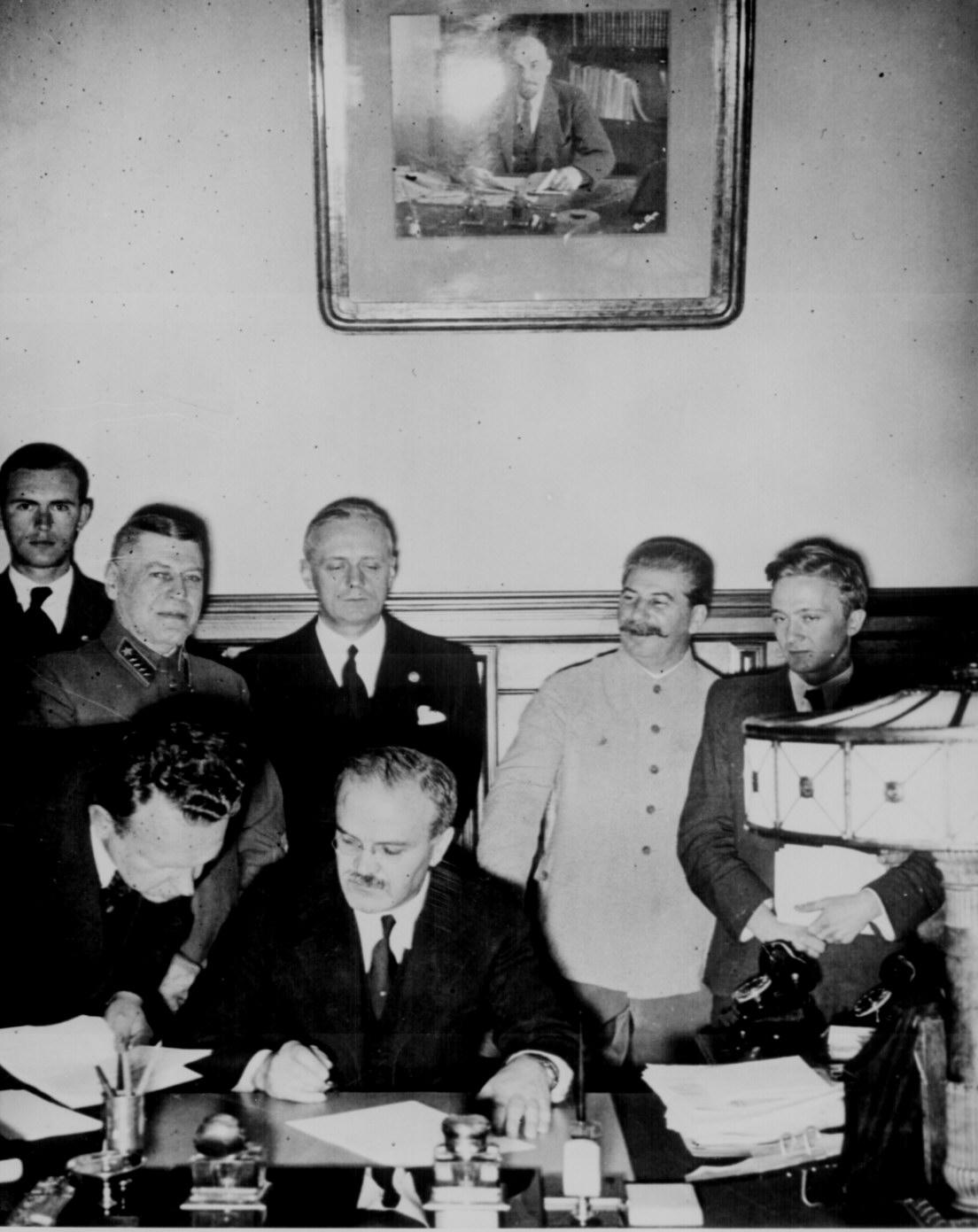 Signing of the German-Soviet Nonaggression Pact