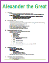 Alexander the Great of Macedon Printable Outline