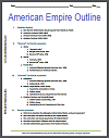 American Empire Printable Outline