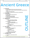 Ancient Greece History Outline