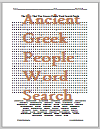 Word Search Puzzle - The Glory That Was Greece - Major Greek People