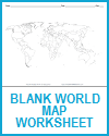 Blank Outline World Map Worksheet